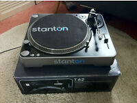 2 x Stanton T.62 Direct Drive Vinyl Turntables - Immaculate Condition, All Original Parts, Packaging