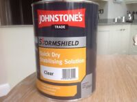 5Litres Johnstone's Stormshield Quick Dry Stabilising Solution, Clear.