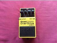 Boss ODB-3 bass guitar overdrive effects pedal