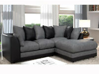 *EXPRESS DELIVERY* DYLAN CHENILLE FABRIC CORNER SOFA *AVAILABLE IN DIFFERENT COLOURS*