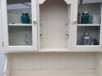 Wooden wall unit with separate hallway type table.