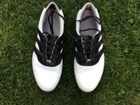 Men's Adidas Leather Golf Shoes Size 8 - Worn Twice!