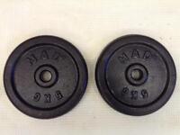 2 x 5kg MAD Standard Cast Iron Weights