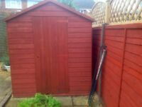 Garden shed wooden 8 ft x 6 ft