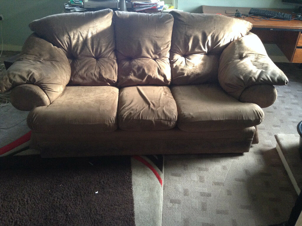 Sofa - Brown Suede effect
