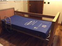 Invacare Medley Ergo bed and softform mattress