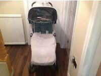 Maclaren techno xlr pushchair with footmuff.