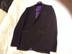 Marks and Spencer Dinner Jacket Black Tie Tuxedo 38R Suit 32R Trousers