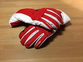 Red Ski Gloves, S