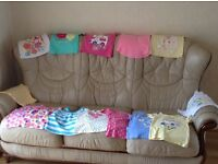 Selection of summer tops for girls aged 2-3