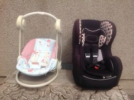 Car seat and swing chair