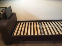 Single bed with 19 inch tv included and mattress