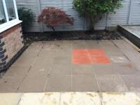 Used slabbed garden patio