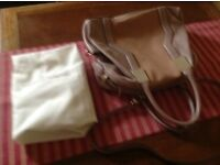 French Connection Pink Leather Handbag with dust bag