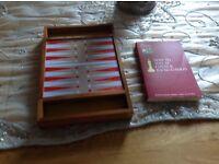 Travel drafts, chess and backgammon set