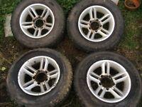 Daihatsu, Suzuki alloy wheels with good tyres.