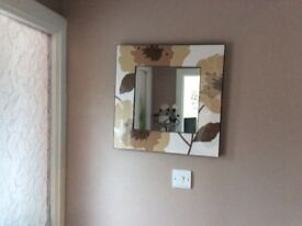 Mirror and matching canvas