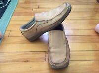 MENS SKECHERS LEATHER SLIP ONS SHOES