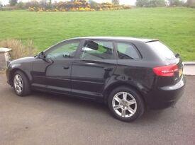 Audi A3'in black. Manual diesel, 65000 miles