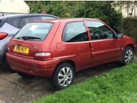 Citroen Saxo, 4 door, 2001, 103k miles, 4 months MOT, 2 recent tyres, others good, new battery,