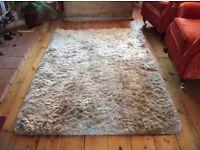 White plush rug