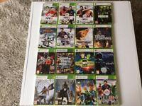 X-Box 360 Elite console and 16 games