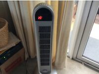 Oscillating tower cooling fan 3 speed , timer , rotates
