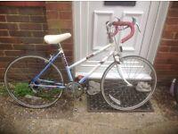 Vintage Small Ladies Raleigh Riva Road /Racing Bike 5 sp