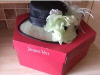 Jacques Vert hat, shoes and bag bottle green mint green kitten excellent condition stored in boxes