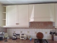 Kitchen Wall Unit in Ivory/Cream 800mm Wide