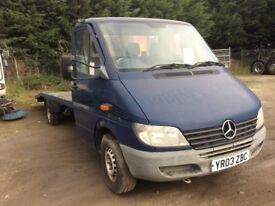 Recovery Van, Selling as Spares or Repairs