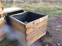 Large wooden planters new