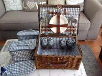 Wicker picnic hamper brand new