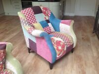 3 seat sofa, armchair, storage footstool. Buyer to collect.