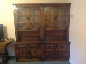 Solid oak dresser cabinet