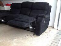 3seater recliner settee