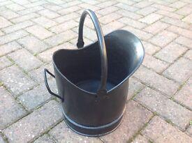 Black Steel Coal Bucket