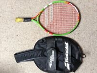John Lewis Babolar childrens junior lightweight tennis racquet racket & cover case