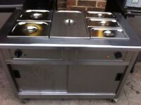 CATERING COMMERCIAL HOT CUPBOARD BAIN MARIE CUISINE CAFE SHOP TAKEAWAY RESTAURANT KITCHEN BAIN MARIE