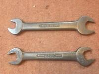 2. X Whitworth open end spanners