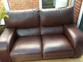 Excellent quality leather sofa