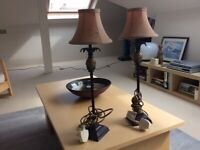 Small table lamps.
