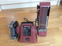 Bench grinder/ linisher.