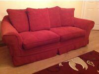 Sofa - 3 & 2 washable fabric sofa