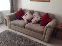 3 x seater sofa , very good condition , 4 years old , colour beige .