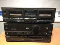 Technics amp, tuner and double cassette deck