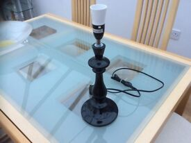 Black shiny ceramic lamp base PAIGNTON