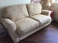 Large 3 seater Barker and Stonehouse sofa bed ,metal base ,mattress topper included