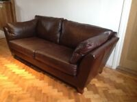 Leather sofa from Marks and Spencer , large dark brown leather