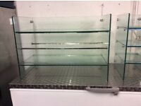 Glass display units for coffee shop ,cafe